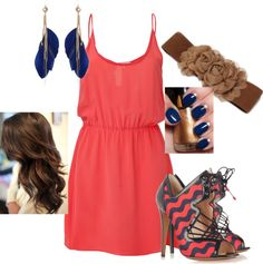 I would wear all of this except the shoes that I wouldn't be able to walk in. Love the hair too!! :)