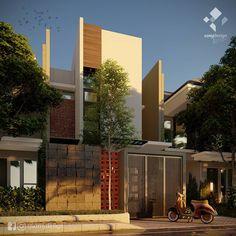 """34 Suka, 0 Komentar - Azhar (@azmydesign) di Instagram: """"Contemporary Small House Luas lahan 6 x 12 m2 3 buah ruang tidur ..…"""" House Design, Outdoor Decor, Home Decor, Decoration Home, Room Decor, Architecture Design, Home Interior Design, House Plans, Home Design"""