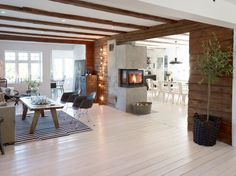 home Norway Design Decor Norway Design, Log Home Interiors, Scandinavian Interiors, Scandinavian Design, Norwegian Style, Interior Decorating, Interior Design, Fireplace Design, Mid Century House