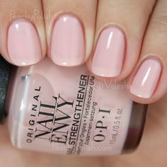 Opi Bubble Bath Nail Envy Strength In Color Collection Peachy Polish