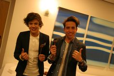Harry Styles and Nick Grimshaw enjoying the buffet at the Children in Need Appeal Show 2012 #CiN