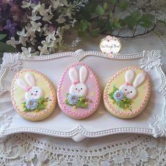 Cute Cookies, Easter Cookies, Easter Treats, Easter Deserts, Easter Biscuits, Royal Icing Cookies, Sugar Cookies, Cookie Designs, Cookie Ideas
