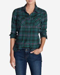Women's Stine's Favorite Flannel Shirt - Rainier Teal Plaid | Eddie Bauer - mens white shirts sale, cool shirts for guys, mens over shirt *ad