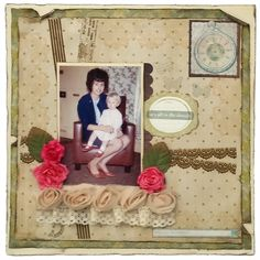 A Layout using Tape Tape, Vanilla, The Past, Scrapbooking, Layout, Printed, Projects, Pattern, Blog