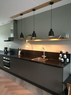 Kitchen Bar Design, Best Kitchen Designs, Kitchen Furniture, Kitchen Interior, Kitchen Decor, Apartment Interior, Room Interior, Interior Design, Minimal Kitchen