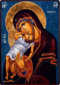 High quality hand-painted Orthodox icon of Theotokos Tender Mercy. BlessedMart offers Religious icons in old Byzantine, Greek, Russian and Catholic style. Religious Images, Religious Icons, Religious Art, Paint Icon, Christian Artwork, Mama Mary, Blessed Mother Mary, Madonna And Child, Orthodox Icons
