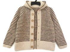 Wool & angora toddler sweater boys hooded cardigan jacket
