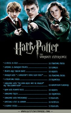Harry Potter Workout-- eh, at least this way I don't need to get dressed up for the gym