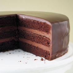 """There are few desserts that provoke so many comments about """"decadence"""" as a truffle cake. Serve it slightly chilled, with a glass of cold milk as an innocent accompaniment."""