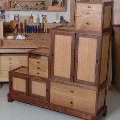 Box-on-Box Tansu Chest Woodworking Plan by Woodcraft Magazine