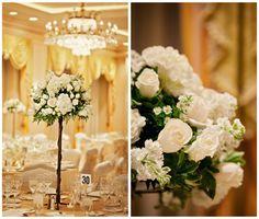 Elegant New Orleans Modern Jewish Wedding//modern jewish wedding centerpieces