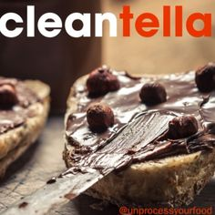 Cleantella by Healthy and Hip Healthy Dips, Healthy Desserts, Healthy Eating, Healthy Recipes, Healthy Food, Protein Desserts, Lean Meals, Vegan Vegetarian, Nutella