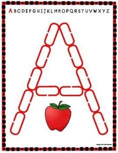 Alphabet Mats for Links - FREEBIE (Playdough Alternative)