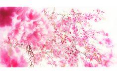 #SAKURA 3 #watercolor_flowers #OHGUSHI #水彩 #particles_粒子 #桜