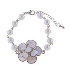 15cm Electroplate Alloy Olivet Flower Jewelry Bracelet for Jewelry Decoration