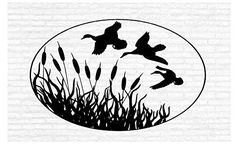 Duck Hunting Geese Cattails Marsh Man Cave Animal Rustic Cabin Lodge Mountains Hunting Vinyl Wall Art Sticker Decal Graphic Home Decor Man Cave Wall Decals, Animal Wall Decals, Wall Stickers Murals, Vinyl Wall Art, Cave Animals, Wall Drawing, Chalk Drawings, Man Cave Bar, Duck Hunting