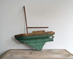 #Antique #Wooden #Sailboat Model by 5gardenias on Etsy