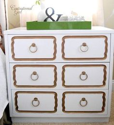 draper dresser knock off in white