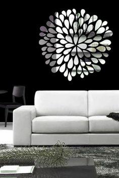 décoration avec miroirs ikea, canapé gris, tapis gris, table basse de salon