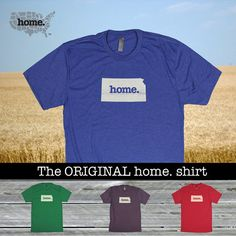 Kansas Home. shirt Men's/Unisex SOFT red green by Home State Apparel. Made in the USA. Available for all states!