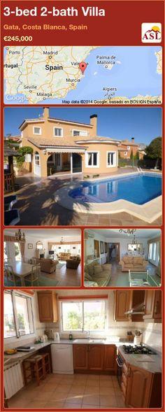 3-bed 2-bath Villa in Gata, Costa Blanca, Spain ►€245,000 #PropertyForSaleInSpain