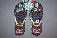 f6479f11a9c746 ROXY WOMEN S SIZE 7 FLIP FLOP SANDALS NEW  Roxy  FlipFlops  beach  CUTE