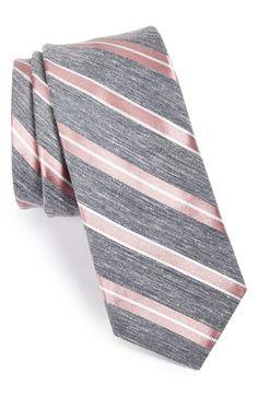 W.R.K Stripe Linen & Silk Tie