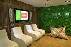 Heineken Experience Amsterdam Flat Screen, Amsterdam, Office Spaces, Projects, Furniture, Branding, Design, Heineken, Blood Plasma
