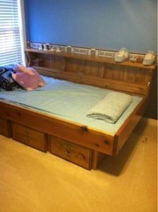 single waterbed frame wmattress and drawers ebay