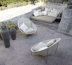 stone patio furniture idea