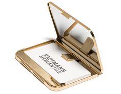 Gold Satin Card Holder