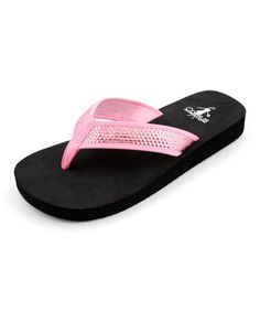 Another great find on #zulily! Light Pink Sequins Isabelle Thong Sandal by Corky's Footwear #zulilyfinds