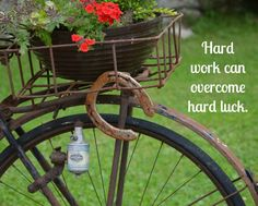 Hard work can overcome hard luck.  See more motivational quotes on Always The Holidays.
