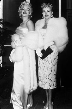 Betty Grable (December 18, 1916 – July 2, 1973) & Marilyn Monroe