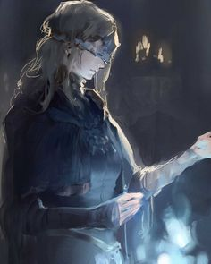 Dark Souls 3 - Fire Keeper Fanart by そふめん/pin.