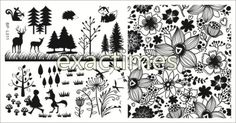 Tree-Flower-Animal-Nail-Art-Stamp-Template-Image-Plate-BORN-PRETTY-BP-L011