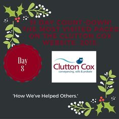 31 Day Countdown: Day 8. How have we helped others? #conveyancing #movinghome