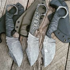 """616 Likes, 7 Comments - black_roc_knives. Ken Vehikite (@black_roc_knives) on Instagram: """"All ready to go. #black_roc_knives #roc #knives #knife #fixedblade #custom #survival #prepper …"""""""