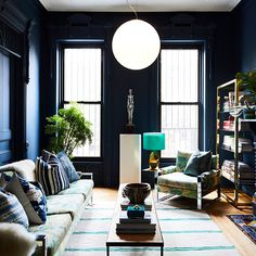 Make It Midnight - 15 Reasons Why You Need To Paint Your Walls A Jewel Tone - Photos