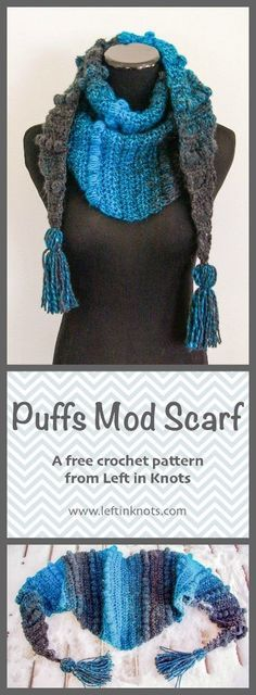 This free modern crochet pattern is a perfect one skein project perfect for the hectic holiday season! A simple project to learn and made with one skein of /lionbrandyarn/ Scarfie yarn.  Add optional tassels for an extra modern twist. n