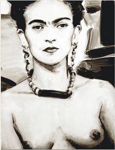 Frida Kahlo by Elizabeth Peyton, via Flickr.