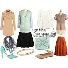 Grand Budapest Hotel -- Agatha by sarastrauss on Polyvore featuring H&M, Aéropostale, Call it SPRING, Kate Spade, Blue Nile and Mad Love. Grand Budapest Hotel, Best Costume Academy Award 2015.