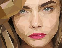 """Check out new work on my @Behance portfolio: """"CARA DELEVINGNE LOW POLY"""" http://be.net/gallery/44173529/CARA-DELEVINGNE-LOW-POLY"""