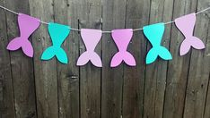 Your place to buy and sell all things handmade Birthday Garland, Party Garland, Mermaid Baby Showers, Baby Mermaid, 10th Birthday, Birthday Party Themes, Mermaid Party Decorations, Girl Guides, Cheer Camp