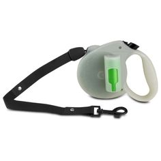 Retractable-Leash-Dog-Leash-Pet-lead-with-locking-mechanism-Pick-up-Bags-Gray