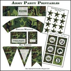 free army party printables - Google Search