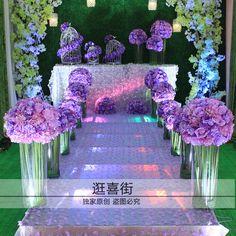 высокие прозрачные акриловые вазы свадебный прием стол реквизита Бесплатная доставка поставляет украшения T станция дорога ведет цветочные вазы