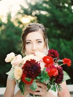 Bouquet with Burgundy and Red | photography by…