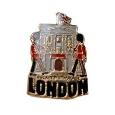 Lovely Buckingham Palace / British Royal Palace / Union Jack / Royal Guard London, England UK Lapel Pin Badge Souvenir #LondonSouvenirs