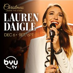 Lauren Daigle Holiday Special: 'Christmas Under the Stars' | Christian Activities Byu Tv, Christmas Tv Specials, Traditional Christmas Songs, What Child Is This, Lauren Daigle, Favorite Christmas Songs, Song Of The Year, Drummer Boy